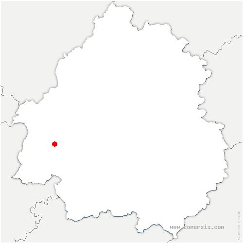 carte de localisation de Beaupouyet