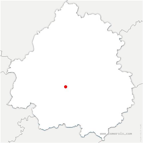 carte de localisation de Beauregard-et-Bassac