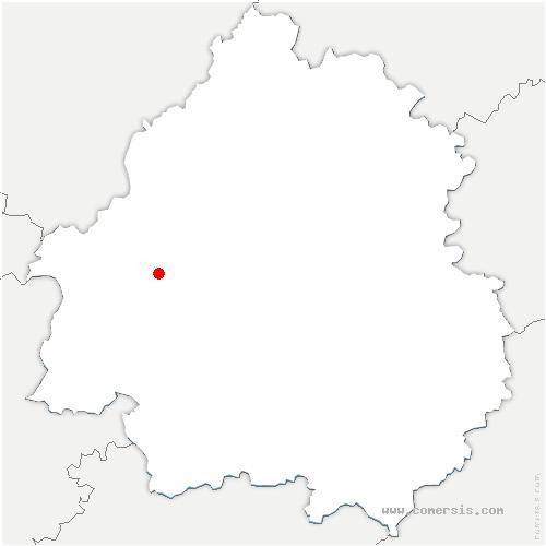 carte de localisation de Beauronne
