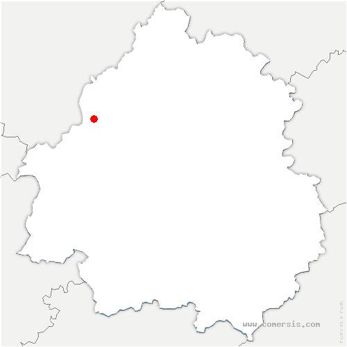carte de localisation de Bertric-Burée