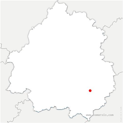 carte de localisation de Beynac-et-Cazenac