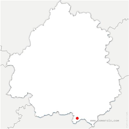 carte de localisation de Biron