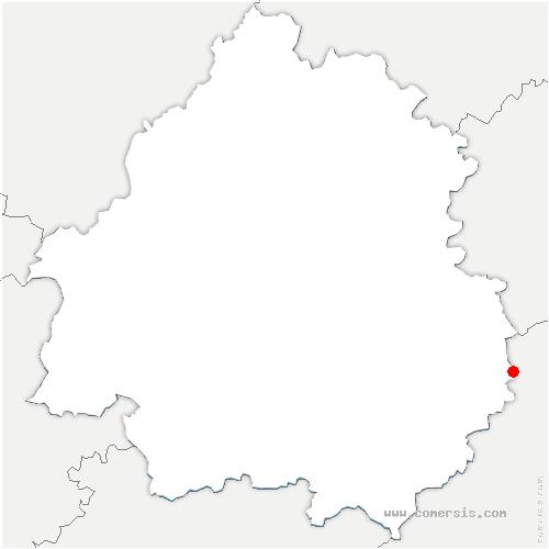 carte de localisation de Borrèze