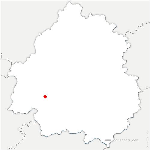carte de localisation de Bosset