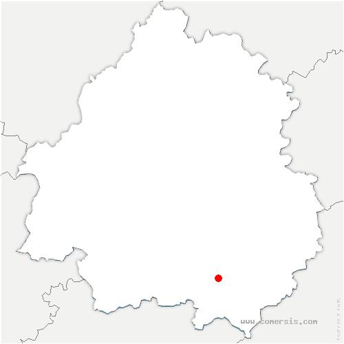carte de localisation de Bouillac