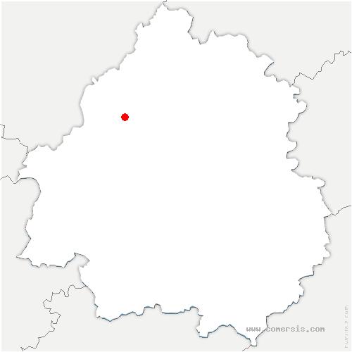 carte de localisation de Bourg-des-Maisons