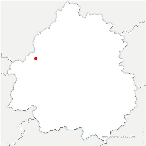 carte de localisation de Bourg-du-Bost