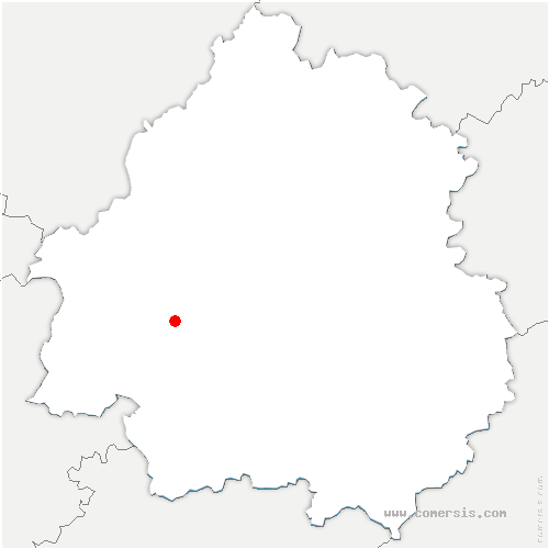 carte de localisation de Bourgnac