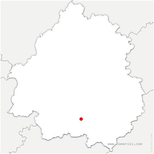 carte de localisation de Bourniquel