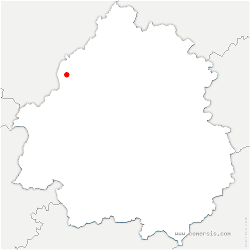 carte de localisation de Bouteilles-Saint-Sébastien