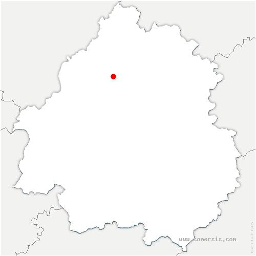 carte de localisation de Brantôme en Périgord