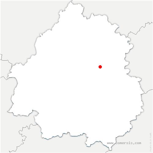 carte de localisation de Brouchaud