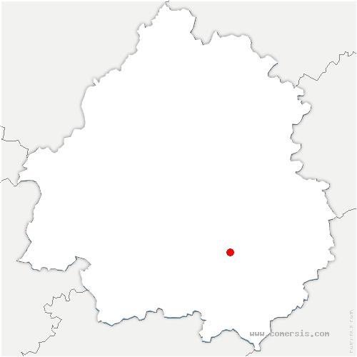 carte de localisation de Bugue