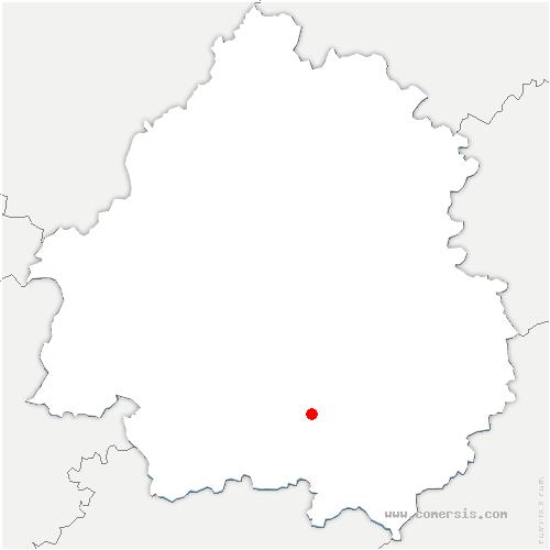 carte de localisation de Buisson-de-Cadouin