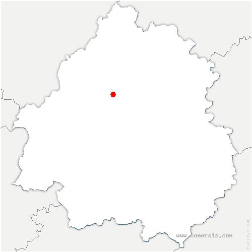 carte de localisation de Bussac