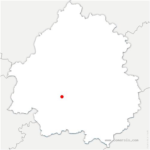 carte de localisation de Campsegret