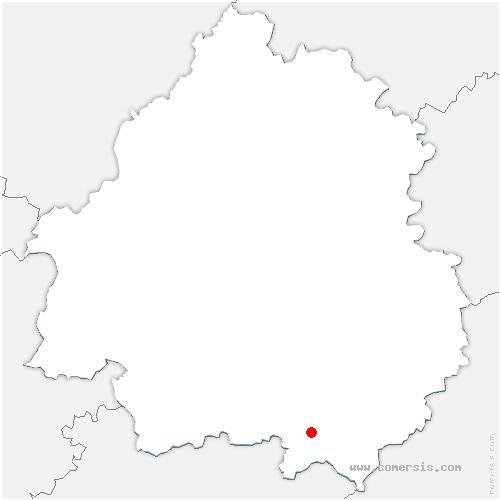carte de localisation de Capdrot