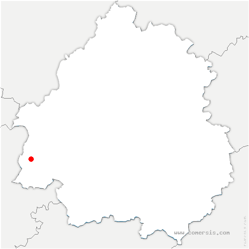 carte de localisation de Carsac-de-Gurson