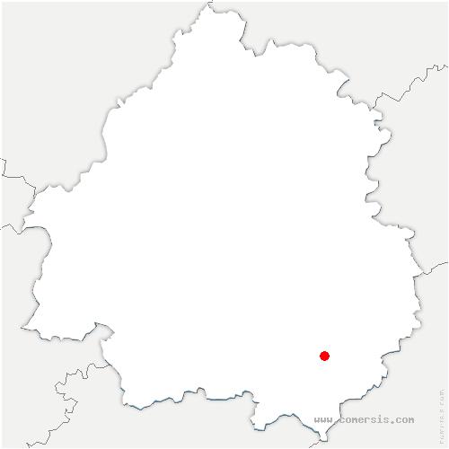 carte de localisation de Carves
