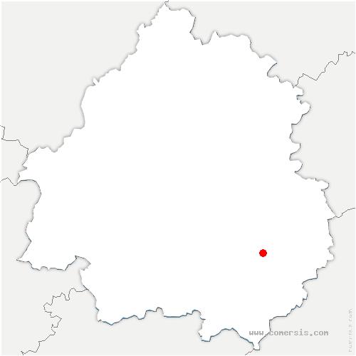 carte de localisation de Castels et Bézenac