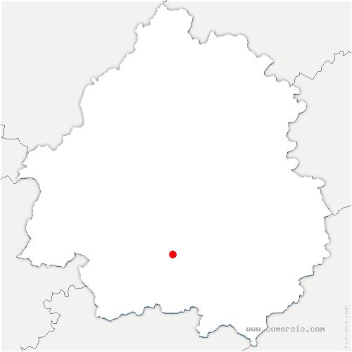 carte de localisation de Cause-de-Clérans