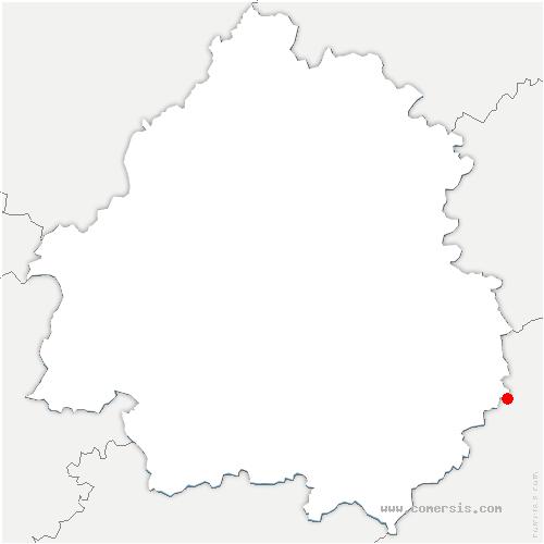 carte de localisation de Cazoulès