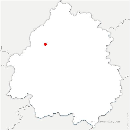 carte de localisation de Celles