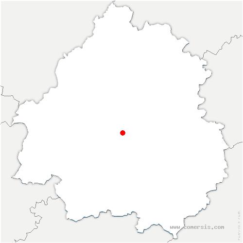 carte de localisation de Chalagnac