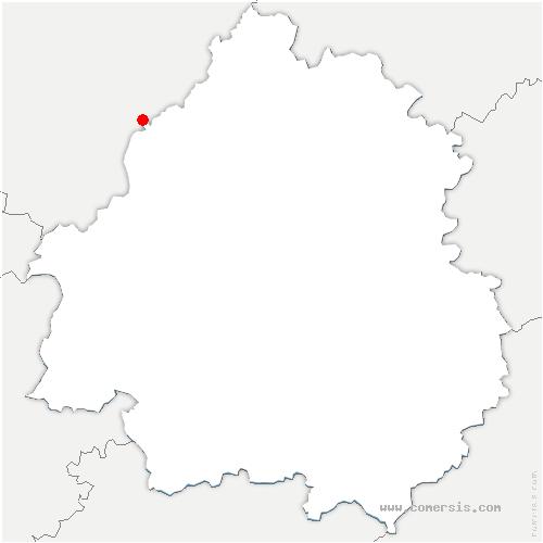 carte de localisation de Champagne-et-Fontaine