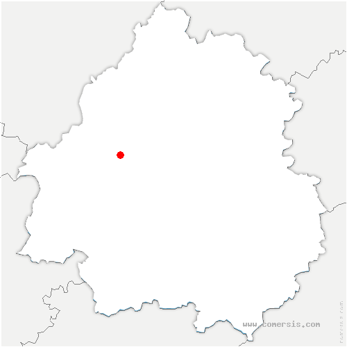 carte de localisation de Chantérac