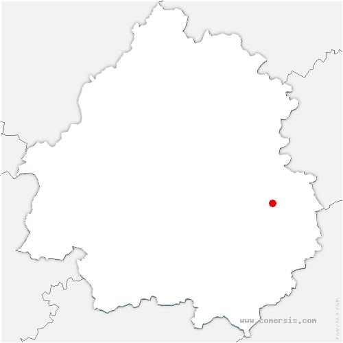 carte de localisation de Chapelle-Aubareil