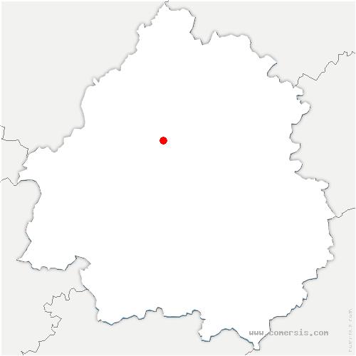 carte de localisation de Chapelle-Gonaguet