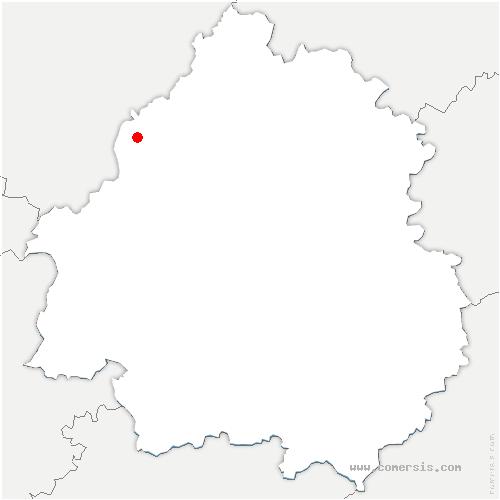carte de localisation de Chapelle-Grésignac
