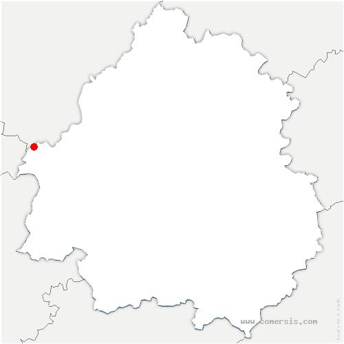 carte de localisation de Chenaud