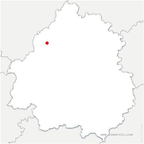 carte de localisation de Cherval