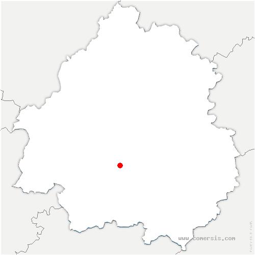 carte de localisation de Clermont-de-Beauregard