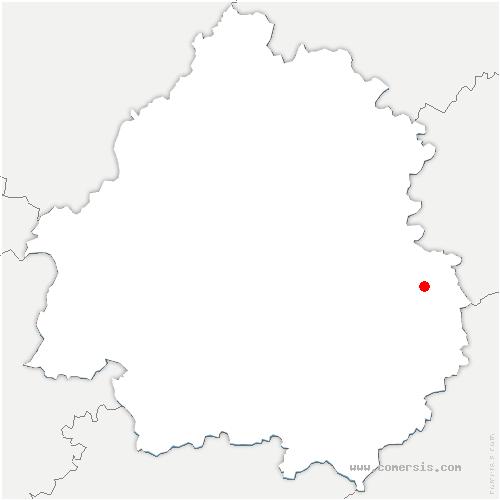 carte de localisation de Coly-Saint-Amand