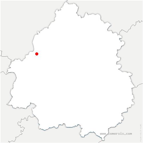 carte de localisation de Comberanche-et-Épeluche