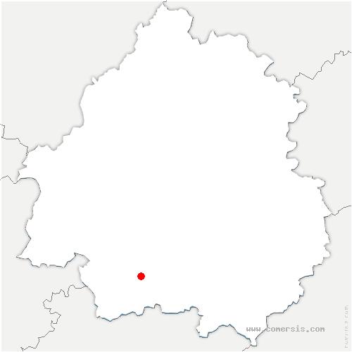 carte de localisation de Conne-de-Labarde