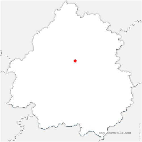 carte de localisation de Cornille