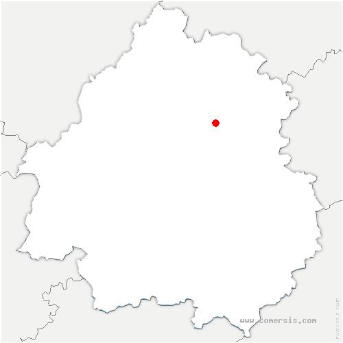 carte de localisation de Coulaures