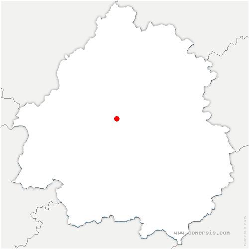 carte de localisation de Coulounieix-Chamiers
