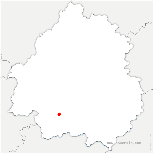 carte de localisation de Cours-de-Pile