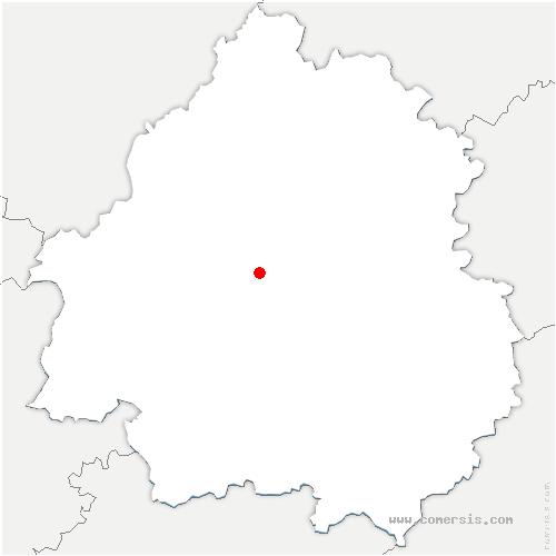 carte de localisation de Coursac