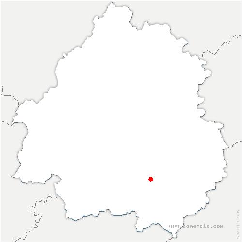 carte de localisation de Coux-et-Bigaroque-Mouzens
