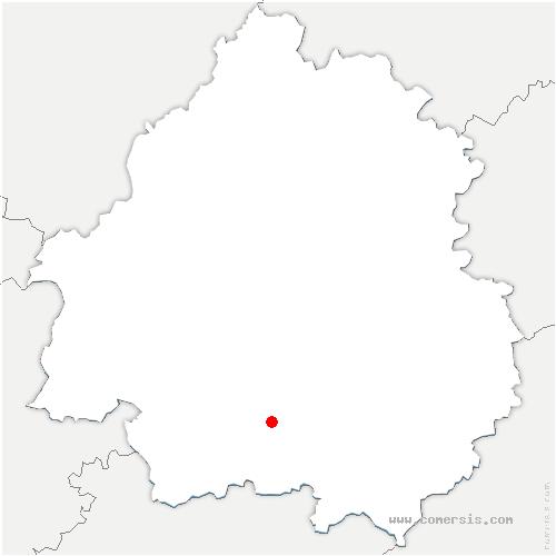 carte de localisation de Couze-et-Saint-Front