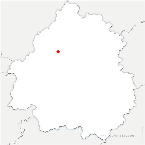carte de localisation de Creyssac