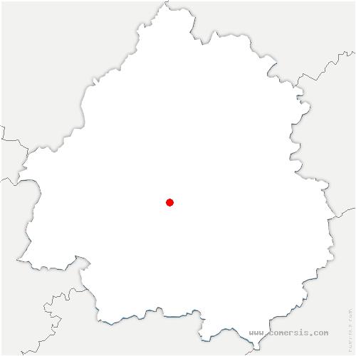 carte de localisation de Creyssensac-et-Pissot