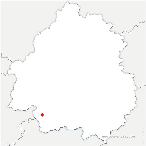 carte de localisation de Cunèges