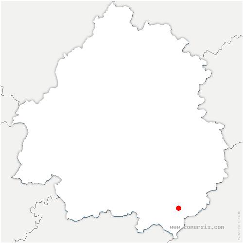 carte de localisation de Doissat